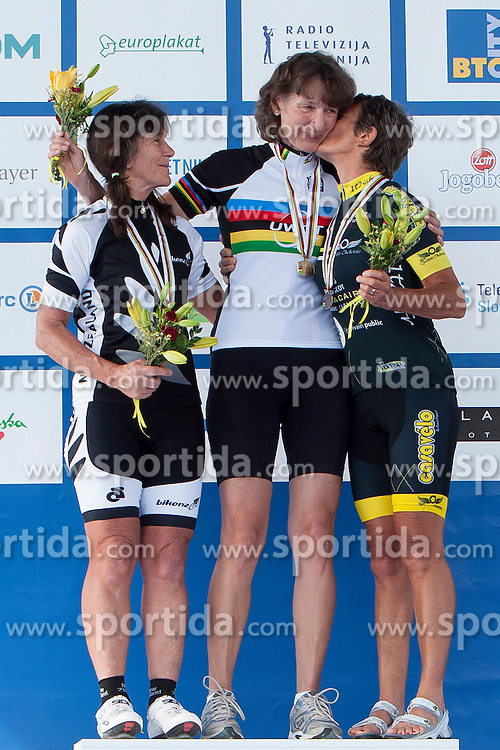 Sharon Prutton from New Zeland, Suberg Gerti from Germany and Thureau Gisele from France during UCI amateur Road World Championship 2014 on August 31, 2014 in BTC City, Ljubljana, Slovenia. Photo by Urban Urbanc / Sportida.com