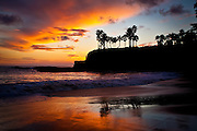 Beautiful Sunset Sky At Shaws Cove Laguna Beach California