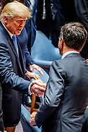 US President Donald Trump (R) and Dutch Prime Minister Mark Rutte (L) shake hands before Trump chairs the United Nations Security Council meeting on the sidelines of the General Debate of the General Assembly of the United Nations at United Nations Headquarters in New York, New York, USA, 26 September 2018. The General Debate of the 73rd session began on 25 September 2018.P ROBIN UTRECHT