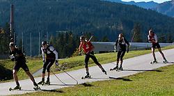 04.10.2010, Biathlon Zentrum, Hochfilzen, AUT, OESV Biathlon Medientag, im Bild Daniel Mesotitsch, OESV, Biathlet, Dominik Landertinger, OESV, Biathlet, Friedrich Pinter, OESV, Biathlet, Christoph Sumann, OESV, Biathlet, Simon Eder, OESV, Biathlet, EXPA Pictures © 2010, PhotoCredit: EXPA/ J. Feichter