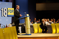 08 SEP 2002, BERLIN/GERMANY:<br /> Guido Westerwelle, FDP Bundesvorsitzender, waehrend seiner Rede, FDP Bundesparteitag, Hotel Estrell<br /> IMAGE: 20020908-01-061<br /> KEYWORDS: party congress