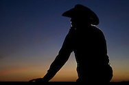 Staff Photo by Dan Henry / <br /> Lane Chipley from Mississippi watches the ladies barrel race during the St Jude Children&rsquo;s Hospital Rodeo being held at the Doug Yates Farm on Friday, August 7, 2015.