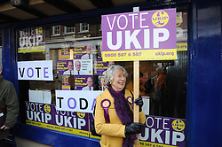 © Licensed to London News Pictures. 20/11/2014<br /> UKIP members in Rochester High Street..outside UKIP office.<br /> Rochester and Strood Parliamentary By-Election polling day, today (20.11.2014) in Kent.<br /> <br /> (Byline:Grant Falvey/LNP)