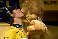 CYCLING - TOUR DE FRANCE 2011 - STAGE 19 - Modane Valfréjus > Alpe d'Huez (109,5km) - 22/07/2011 - PHOTO : VINCENT CURUTCHET / DPPI - ANDY SCHLECK (LUX) / LEOPARD TREK / YELLOW JERSEY