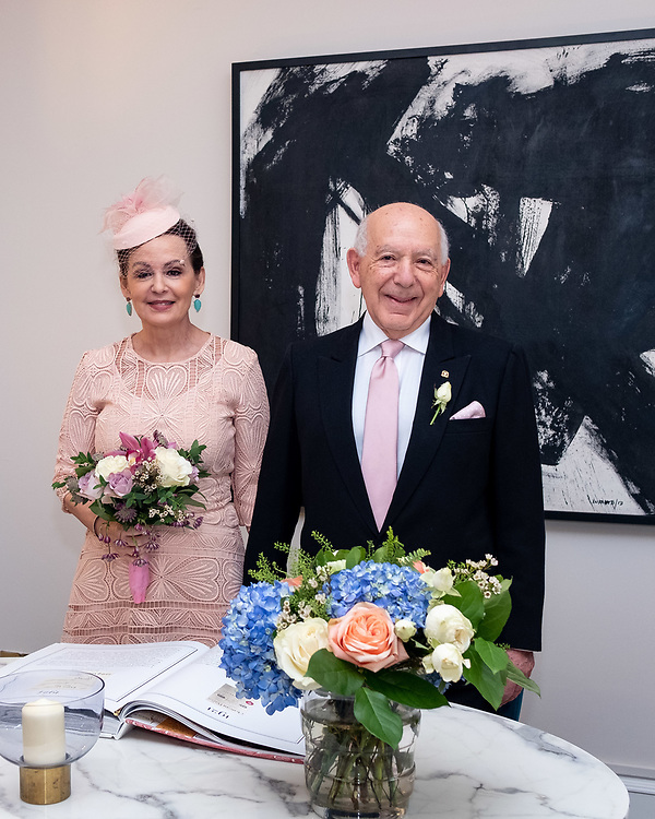 Civil Wedding Ceremony between Ambassador Of The Dominican Republic (DR) Hugo Guiliani Cury and Laura Messina. London, 23th November 2019. (Photos/Ivan Gonzalez)