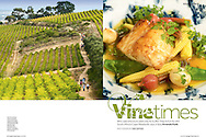 Tear sheet from a commissioned assignment on the Cape Winelands that I undertook for Sunday Times Travel Magazine (UK).