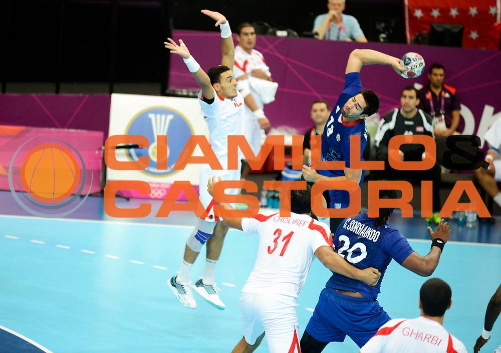 DESCRIZIONE : France Handball Jeux Olympiques Londres GIOCATORE : Karabatic Nikola FRA SQUADRA : France Homme DATA : 2012-08-02CATEGORIA : SPORT : HandBall AUTORE : AGENZIA CIAMILLO & CASTORIA/G.Ciamillo