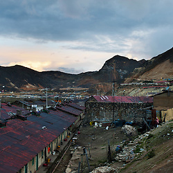 The mining town of Morococha, located about 14,700 feet about sea level in the Peruvian andes.