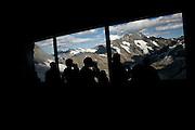 Viewing Swiss Mountains ascending to Top of Europe, Blick auf Berge im Berner Oberland beim Aufstieg mit der Jungfraujochbahn. © Romano P. Riedo