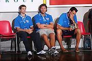 DESCRIZIONE : Cagliari Qualificazione Eurobasket 2009 Serbia Italia <br /> GIOCATORE : Daniele Cinciarini Luca Infante Tommaso Fantoni <br /> SQUADRA : Nazionale Italia Uomini <br /> EVENTO : Raduno Collegiale Nazionale Maschile <br /> GARA : Serbia Italia Serbia Italy <br /> DATA : 20/08/2008 <br /> CATEGORIA : Ritratto <br /> SPORT : Pallacanestro <br /> AUTORE : Agenzia Ciamillo-Castoria/S.Silvestri <br /> Galleria : Fip Nazionali 2008 <br /> Fotonotizia : Cagliari Qualificazione Eurobasket 2009 Serbia Italia <br /> Predefinita :