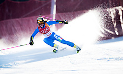February 15, 2018 - Pyeongchang, South Korea - MARTA BASSINO of Italy on her first run at the Womens Giant Slalom event Thursday, February 15, 2018 at the Yongpyang Alpine Centerl at the Pyeongchang Winter Olympic Games.  Photo by Mark Reis, ZUMA Press/The Gazette (Credit Image: © Mark Reis via ZUMA Wire)