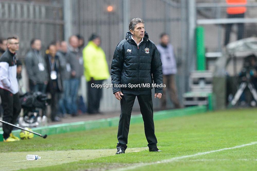 Claude PUEL - 19.12.2014 - Lens / Nice - 19e journee Ligue 1<br />Photo : Aurelien Meunier / Icon Sport