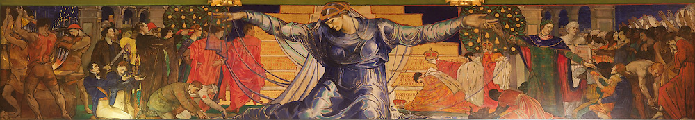 """Unity, The prophecy of William Penn - Violet Oakley's tribute to """"the wisdom of love"""", spans the north wall of the Pennsylvania capitol Senate chamber in Harrisburg."""