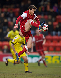 LONDON, ENGLAND - Saturday, February 9, 2013: Leyton Orient's Romain Vincelot in action against Tranmere Rovers during the Football League One match at Brisbane Road. (Pic by David Rawcliffe/Propaganda)