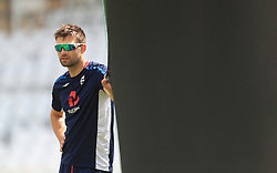 Mark Wood during the nets session at Trent Bridge, Nottingham.