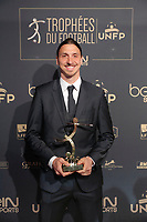 Fotball<br /> Foto: Dppi/Digitalsport<br /> NORWAY ONLY<br /> <br /> Zlatan Ibrahimovic (Paris SG) during the 25th UNFP (Union National des Footballeurs Professionnels) Trophies 2016 ceremony, on May 8, 2016, at Pavillon Gabriel in Paris, France