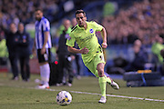 Sam Baldock cuts in from the wing during the Sky Bet Championship Play Off First Leg match between Sheffield Wednesday and Brighton and Hove Albion at Hillsborough, Sheffield, England on 13 May 2016.