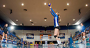21 February 2014:  Canada West Women's Volleyball Semi Finals.  University of British Columbia Thunderbirds defeats the University of BC Okanagan Heat at War Memorial Gym, University of British Columbia, Vancouver, BC, Canada. Final Score in UBC 3 - UBC OK 1  ****(Photo by Bob Frid/UBC Athletics 2014 All Rights Reserved)****