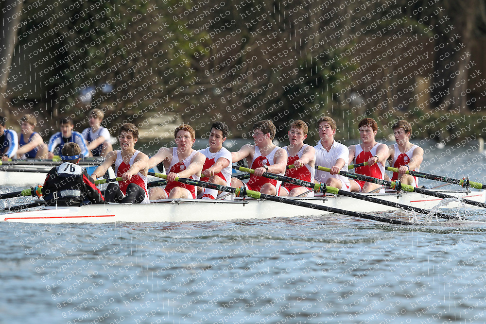 2012.02.25 Reading University Head 2012. The River Thames. Division 1. Radley College Boat Club B J18A 8+