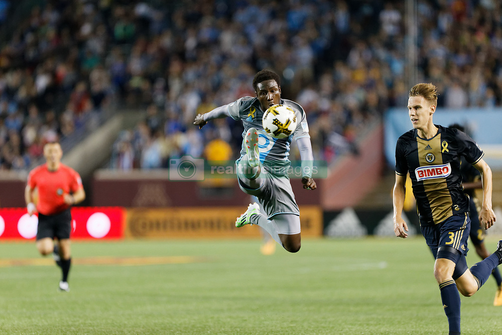 September 9, 2017 - Minneapolis, MN, USA - Minneapolis, MN - Saturday, September 9, 2017: Minnesota United FC played Philadelphia Union in a Major League Soccer (MLS) game at TCF Bank stadium. Final score Minnesota United 1, Philadelphia Union 1 (Credit Image: © Jeremy Olson/ISIPhotos via ZUMA Wire)