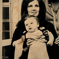 Rafaella Barker, Author and writer at her home in Norfolk.<br /> <br /> Collect picture of mother Elspeth Barker with her daughter Sam. Taken about 1979.<br /> <br /> Picture by Jerry Daws/Albanpix/Writer Pictures<br /> <br /> WORLD RIGHTS