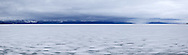 Frozen Yellowstone Lake Panoramic, Yellowstone National Park, Wyoming