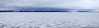 Frozen Yellowstone Lake Panoramic, Yellowstone National Park, Wyoming