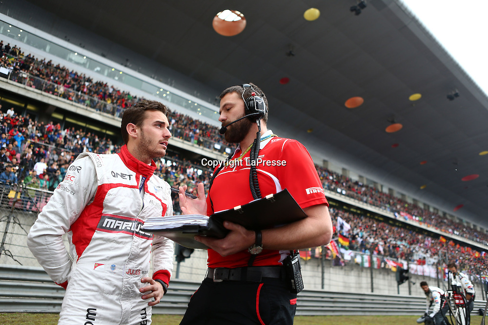 &copy; Photo4 / LaPresse<br /> 20/4/2014 Shanghai, China<br /> Sport <br /> Grand Prix Formula One China 2014<br /> In the pic: Jules Bianchi (FRA) Marussia F1 Team MR03