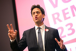 © Licensed to London News Pictures. 21/06/2016. Birmingham, UK. ED MILIBAND in Birmingham to set out the case for remaining in Europe. Photo credit: Dave Warren/LNP