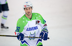 12.02.2016, Olympiaworld, Innsbruck, AUT, Euro Ice Hockey Challenge, Slowenien vs Frankreich, im Bild Sabahudin Kovacevic (SLO) // Sabahudin Kovacevic of Slowenia during the Euro Icehockey Challenge Match between Slovenia and France at the Olympiaworld in Innsbruck, Austria on 2016/02/12. EXPA Pictures © 2016, PhotoCredit: EXPA/ Jakob Gruber
