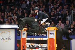 Boerekamps Arnold (NED) - Chacco Boy<br /> KWPN Stallion Selection - 's Hertogenbosch 2014<br /> © Dirk Caremans