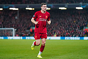 Liverpool midfielder James Milner (7) in action during the Champions League match between Liverpool and Napoli at Anfield, Liverpool, England on 27 November 2019.