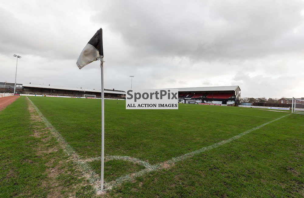 The game between Ayr Utd and Stenhousemuir is called off due to high winds (c) ROSS EAGLESHAM   Sportpix.co.uk