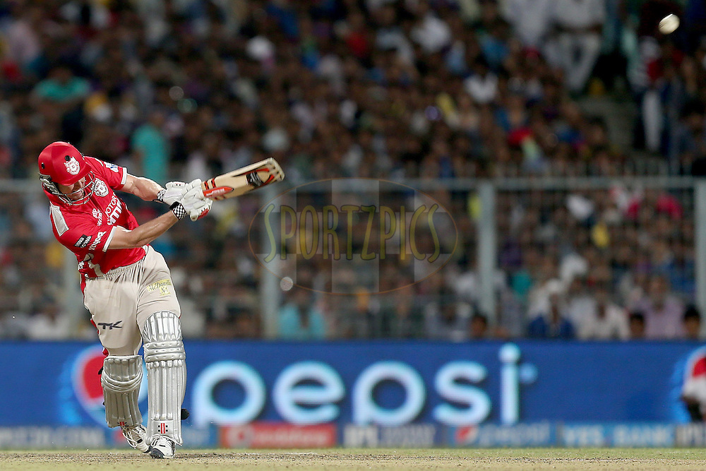 George Bailey during the first qualifier match (QF1) of the Pepsi Indian Premier League Season VII 2014 between the Kings XI Punjab and the Kolkata Knight Riders held at Eden Gardens Cricket Stadium, Kolkata, India on the 28th May 2014. Photo by Jacques Rossouw / IPL / SPORTZPICS<br /> <br /> <br /> <br /> Image use subject to terms and conditions which can be found here:  http://sportzpics.photoshelter.com/gallery/Pepsi-IPL-Image-terms-and-conditions/G00004VW1IVJ.gB0/C0000TScjhBM6ikg