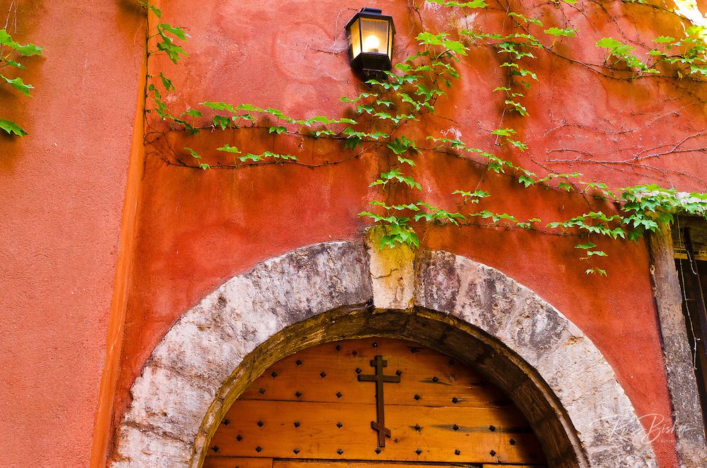 Courtyard at the Long Traboule in old town Vieux Lyon, France (UNESCO World Heritage Site)