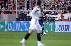 03-03-2007 VOETBAL: SEVILLA FC - BARCELONA: SEVILLA  <br /> Sevilla wint de topper met Barcelona met 2-1 / Puyol - boarding unibet.com<br /> &copy;2006-WWW.FOTOHOOGENDOORN.NL