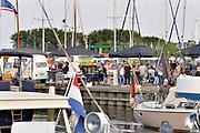 Nederland, Urk, 15-6-2018Feest in het dorp, vissersdorp, vanwege de visserijdagen .Foto: Flip Franssen