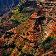 This photo of Wameia Canyon was taken on the western side of the island of Kauai. The mix of color in these canyons is amazing!