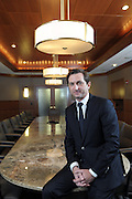 United Water CEO Betrand Camus at corporate headquarters in Harrington Park, NJ