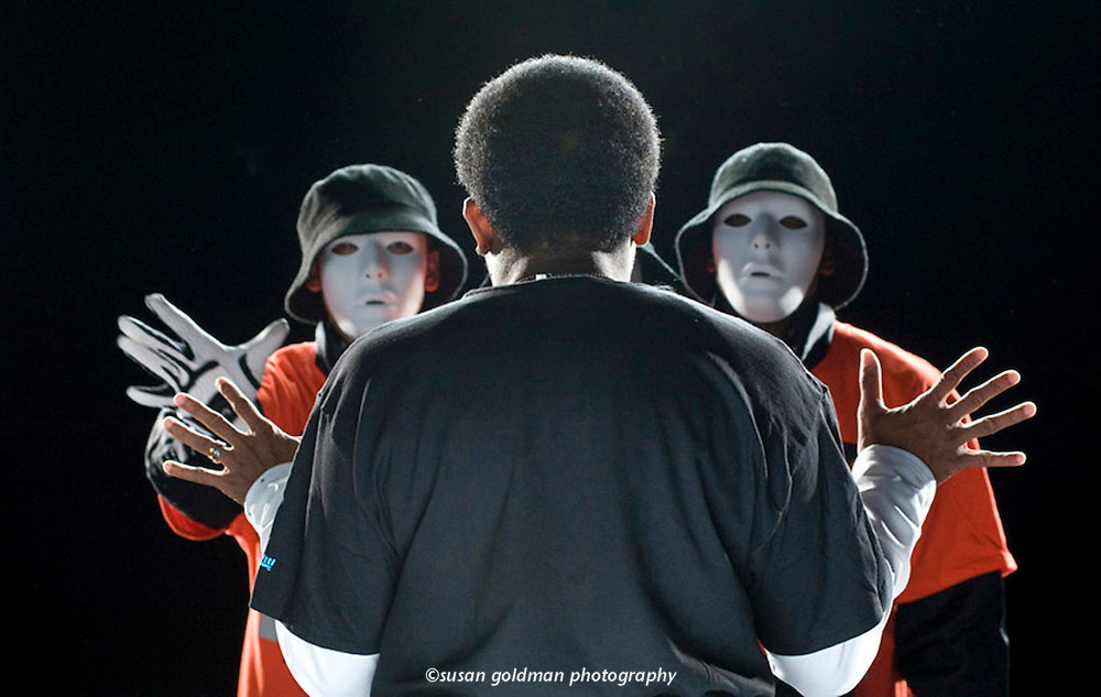 Spike Lee directs members of the JabbaWockeeZ dance team during the filming of the new Gatorade television commercial in Los Angeles. The spot features an impressive roster of 16 athletes including Muhammad Ali, Derek Jeter and Serena Williams. Photo/Gatorade, Susan Goldman.