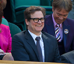LONDON, ENGLAND - Thursday, July 3, 2014: Colin Firth in the Royal Box during the Ladies' Singles Semi-Final match on day ten of the Wimbledon Lawn Tennis Championships at the All England Lawn Tennis and Croquet Club. (Pic by David Rawcliffe/Propaganda)