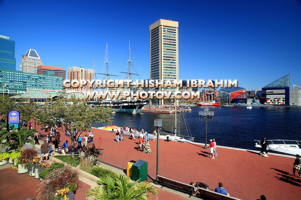 Baltimore Skyline and Inner Harbor, Baltimore, Maryland, USA
