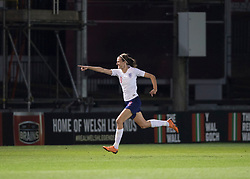 NEWPORT, WALES - Thursday, August 30, 2018: England's Jill Scott celebrates scoring her teams second goal during the FIFA Women's World Cup 2019 Qualifying Round Group 1 match between Wales and England at Rodney Parade. (Pic by Laura Malkin/Propaganda)