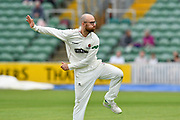 Jack Leach of Somerset warming up to bowl during the Specsavers County Champ Div 1 match between Somerset County Cricket Club and Worcestershire County Cricket Club at the Cooper Associates County Ground, Taunton, United Kingdom on 22 April 2018. Picture by Graham Hunt.