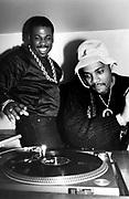 Hip hop DJ's Jam Master Jay and Grandmaster D, 1980s