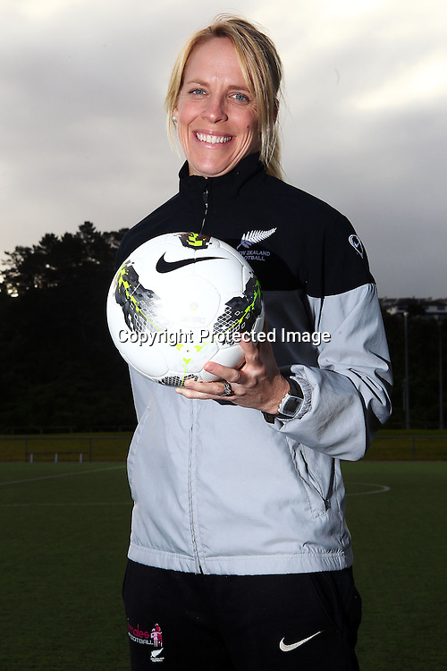 Jenny Bindon, New Zealand Women's Olympic Football team announcement ahead of the 2012 London Olympic Games. North Harbour Stadium, Albany, Auckland. 29 June 2012. Photo: William Booth/photosport.co.nz