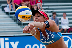 Simona Fabjan of Slovenia at A1 Beach Volleyball Grand Slam tournament of Swatch FIVB World Tour 2011, on August 2, 2011 in Klagenfurt, Austria. (Photo by Matic Klansek Velej / Sportida)