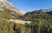 Aiguestortes National Park, or Aiguestortes i Estany de Sant Maurici National Park, in the Pyrenees, Catalonia, Spain. This is a wild, protected mountain area, with high mountains and nearly 200 lakes, and important biodiversity in both flora and fauna. Picture by Manuel Cohen