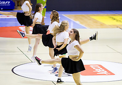 Cheerleaders Frcafele perform during friendly basketball match between National teams of Slovenia and Georgia in day 2 of Adecco Cup 2014, on July 25, 2014 in Dvorana OS 1, Murska Sobota, Slovenia. Photo by Vid Ponikvar / Sportida.com
