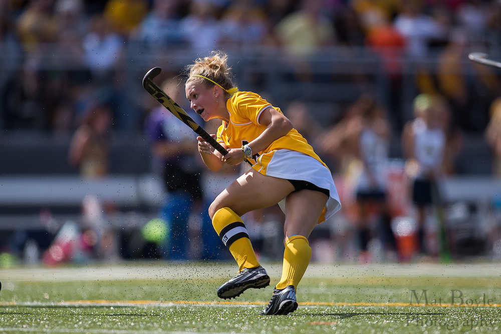Rowan University Junior Forward/Midfield Karlee Henderson (18); Rowan University Field Hockey vs Neumann University at Coach Richard Wacker Stadium in Glassboro, NJ on Saturday September 28, 2013. (photo / Mat Boyle)